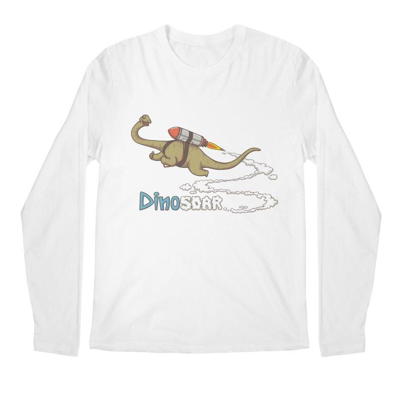 Dinosoar Men's Longsleeve T-Shirt by spookylili