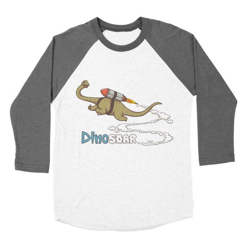 Dinosoar Men's Baseball Triblend T-Shirt by spookylili