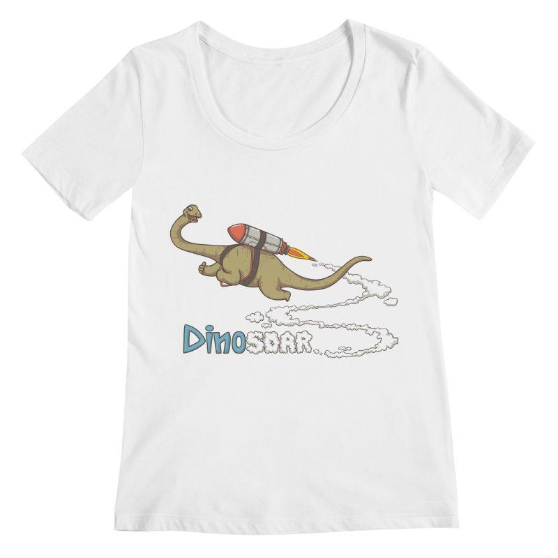 Dinosoar Women's Regular Scoop Neck by spookylili
