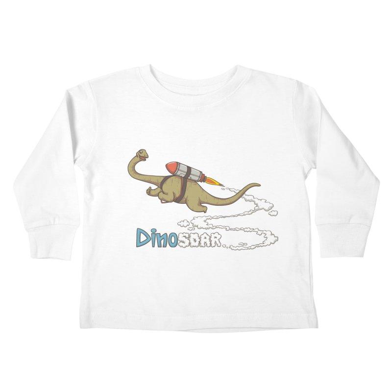 Dinosoar Kids Toddler Longsleeve T-Shirt by spookylili