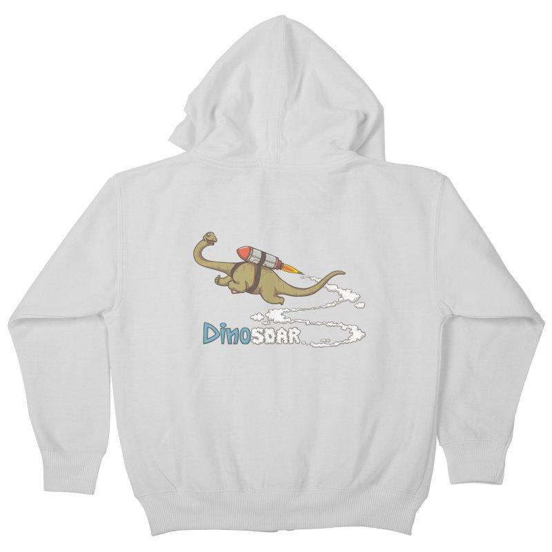 Dinosoar Kids Zip-Up Hoody by spookylili