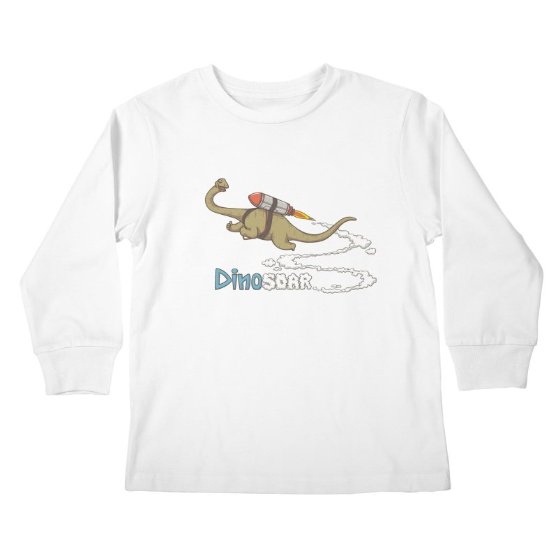 Dinosoar Kids Longsleeve T-Shirt by spookylili