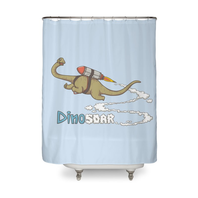 Dinosoar Home Shower Curtain by spookylili
