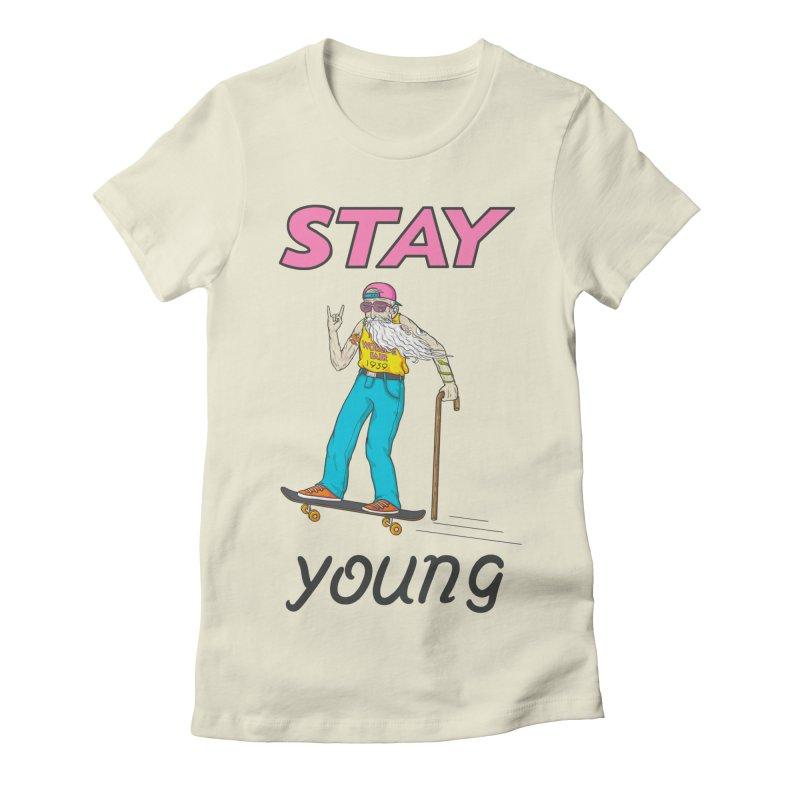 Always Board Women's Fitted T-Shirt by spookylili