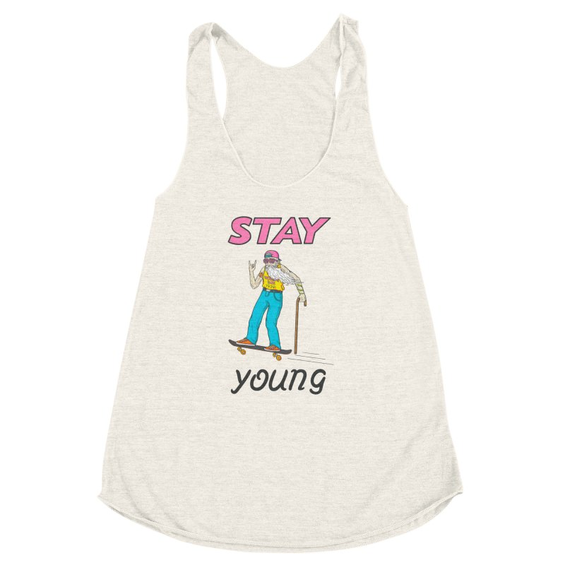 Always Board Women's Racerback Triblend Tank by spookylili