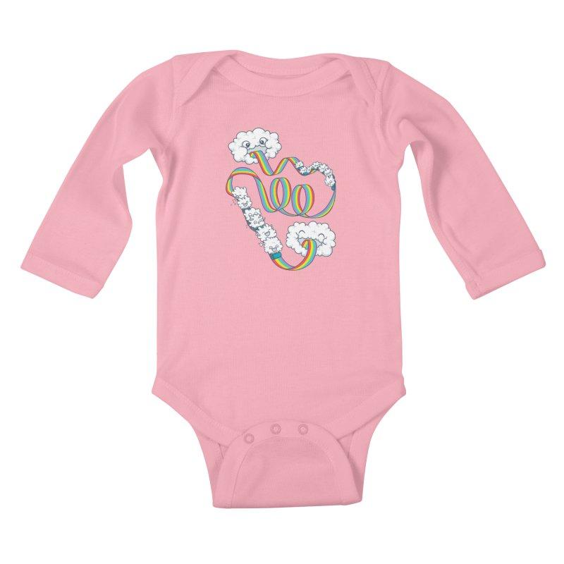 Rainbow Coaster Kids Baby Longsleeve Bodysuit by spookylili