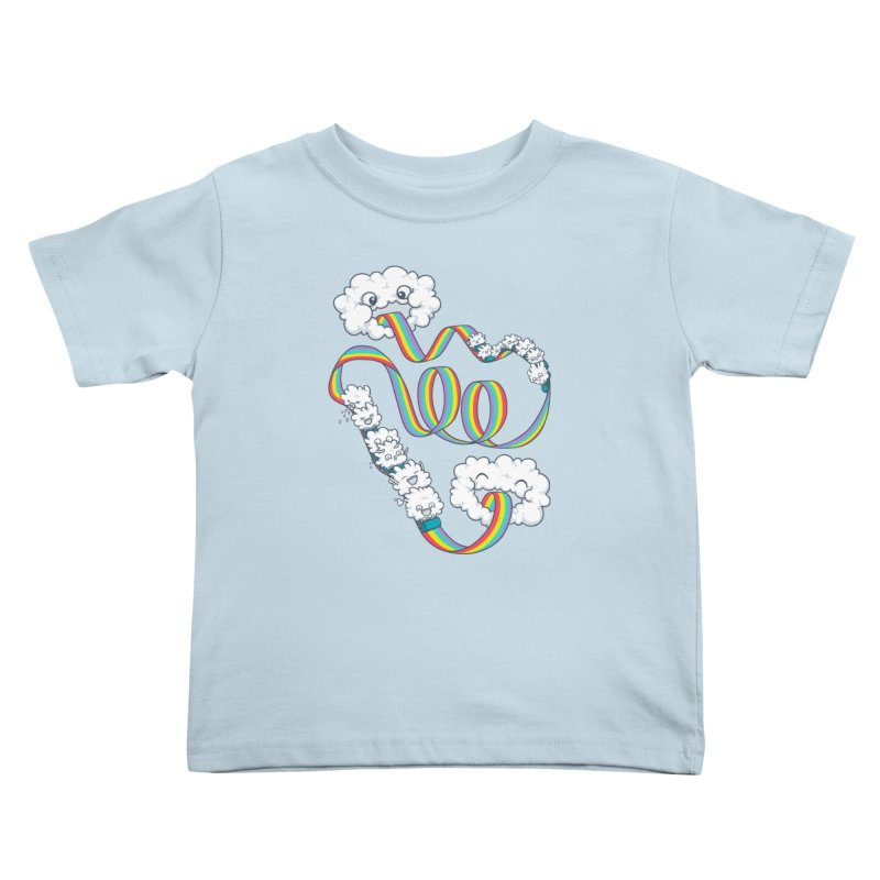 Rainbow Coaster Kids Toddler T-Shirt by spookylili