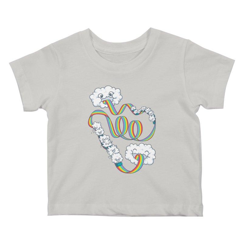 Rainbow Coaster Kids Baby T-Shirt by spookylili