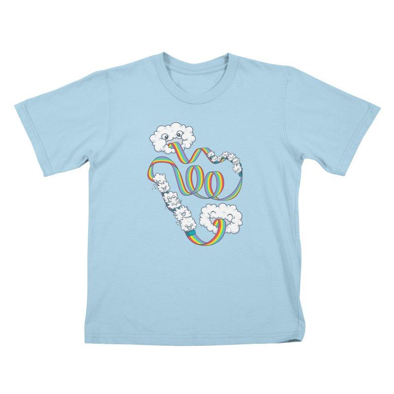 Rainbow Coaster Kids T-Shirt by spookylili