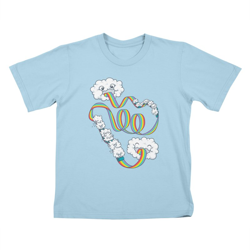 Rainbow Coaster Kids T-Shirt by spookylili