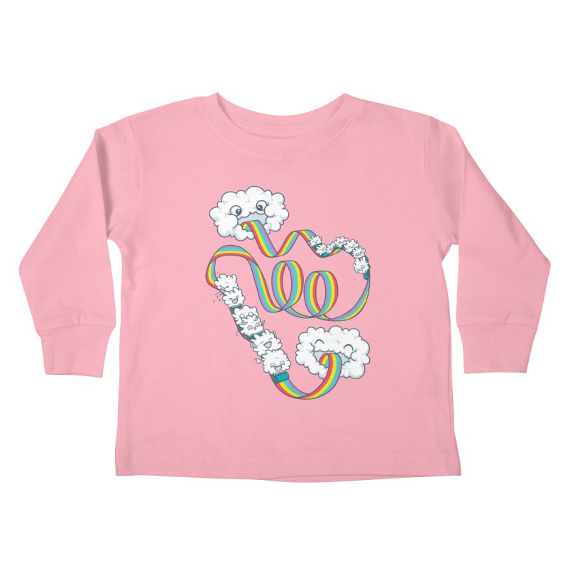 Rainbow Coaster Kids Toddler Longsleeve T-Shirt by spookylili