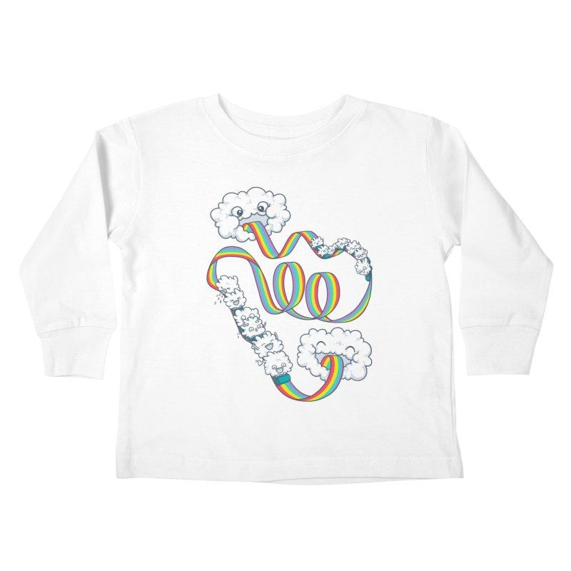 Rainbow Coaster Kids Toddler Longsleeve T-Shirt by spookylili