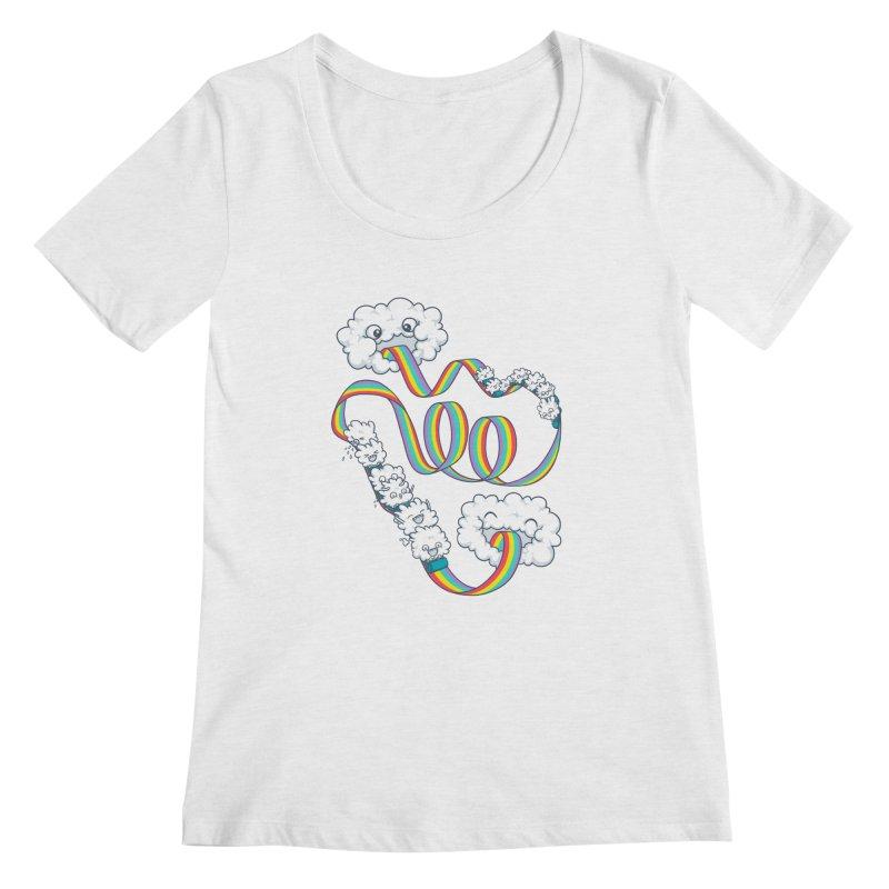 Rainbow Coaster Women's Regular Scoop Neck by spookylili