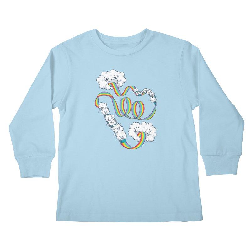 Rainbow Coaster Kids Longsleeve T-Shirt by spookylili