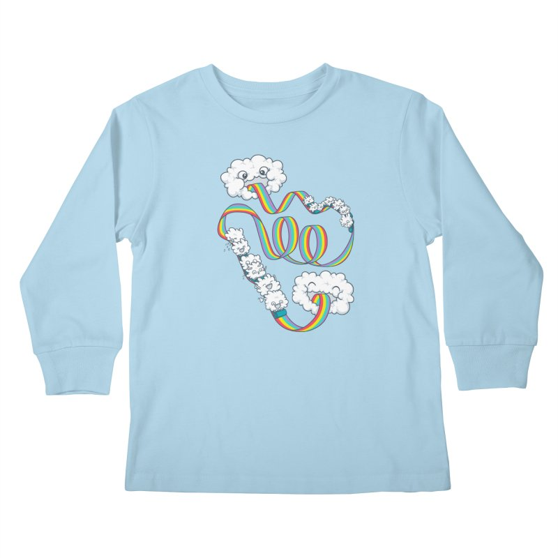 Rainbow Coaster Kids Longsleeve T-Shirt by spookylili