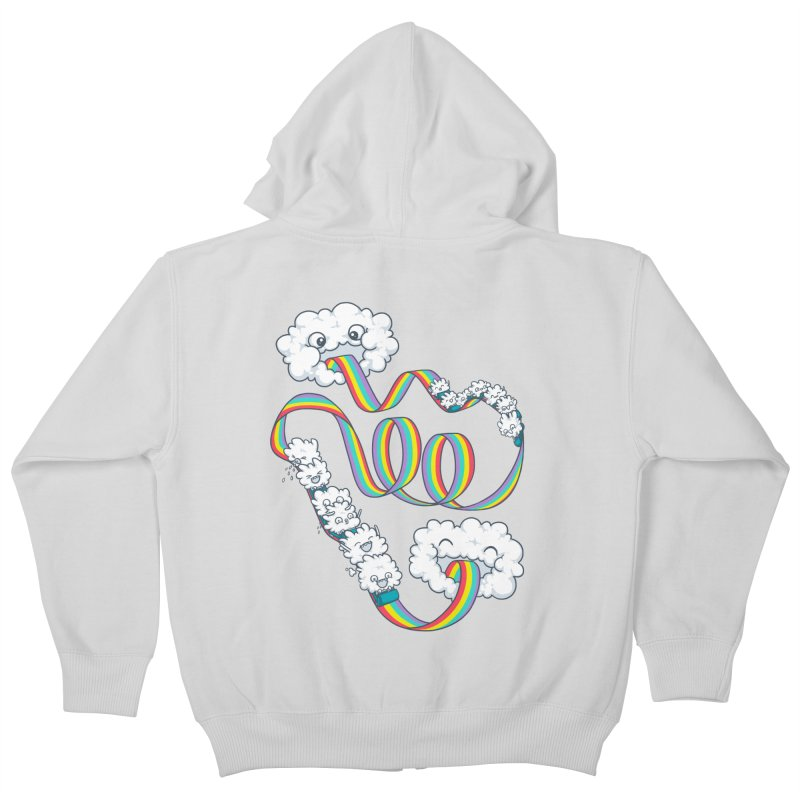 Rainbow Coaster Kids Zip-Up Hoody by spookylili