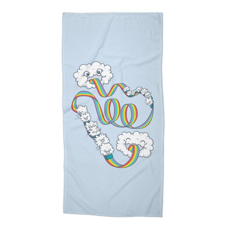 Rainbow Coaster Accessories Beach Towel by spookylili