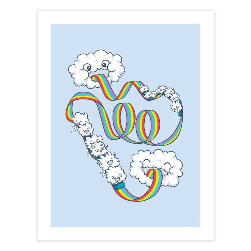 Rainbow Coaster Home Fine Art Print by spookylili