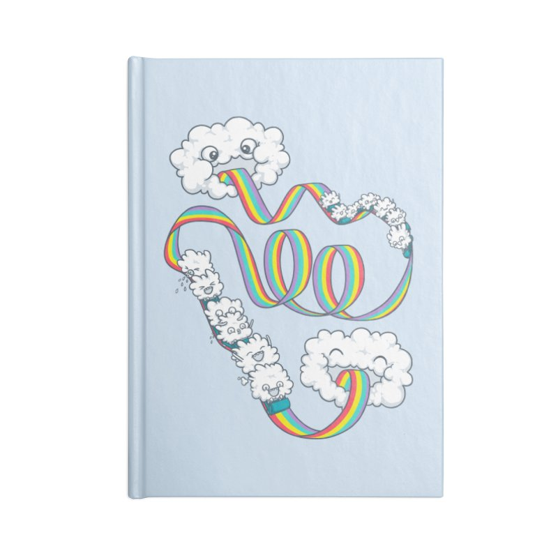 Rainbow Coaster Accessories Blank Journal Notebook by spookylili
