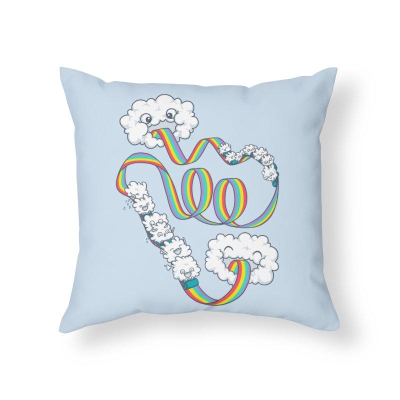 Rainbow Coaster Home Throw Pillow by spookylili