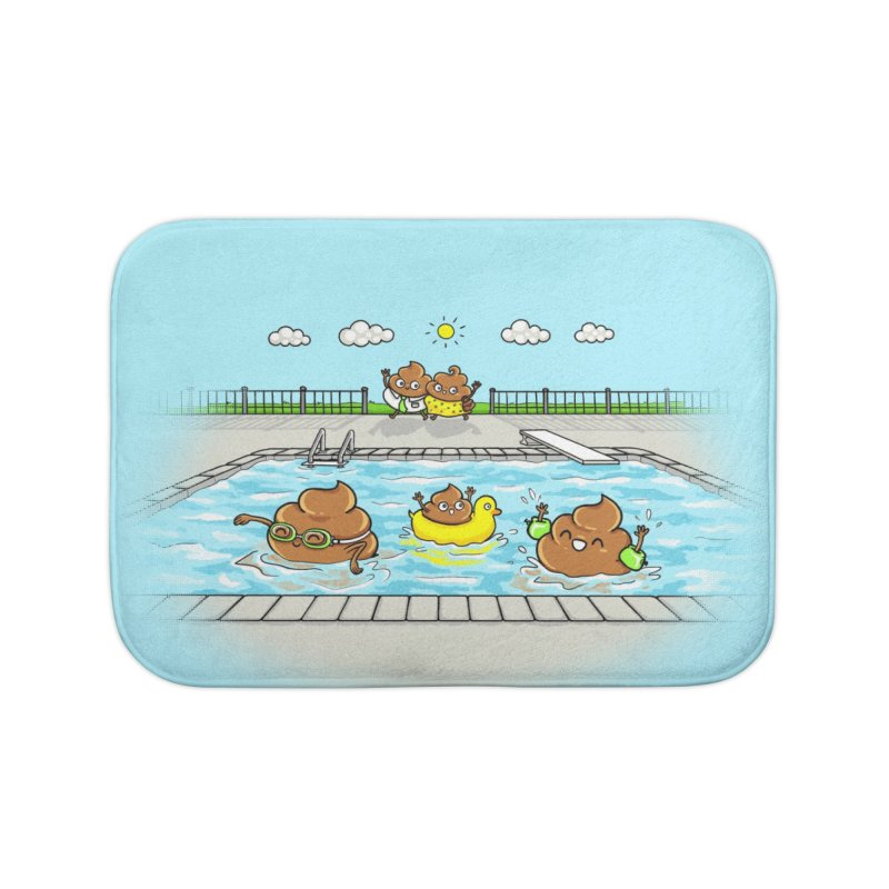 Dropping The Kids Off Home Bath Mat by spookylili