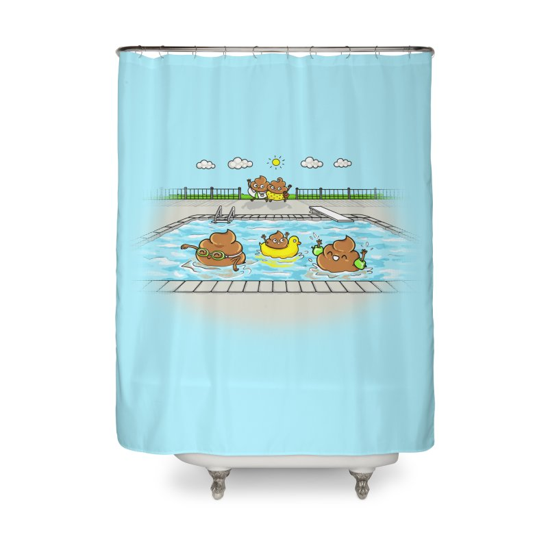 Dropping The Kids Off Home Shower Curtain by spookylili