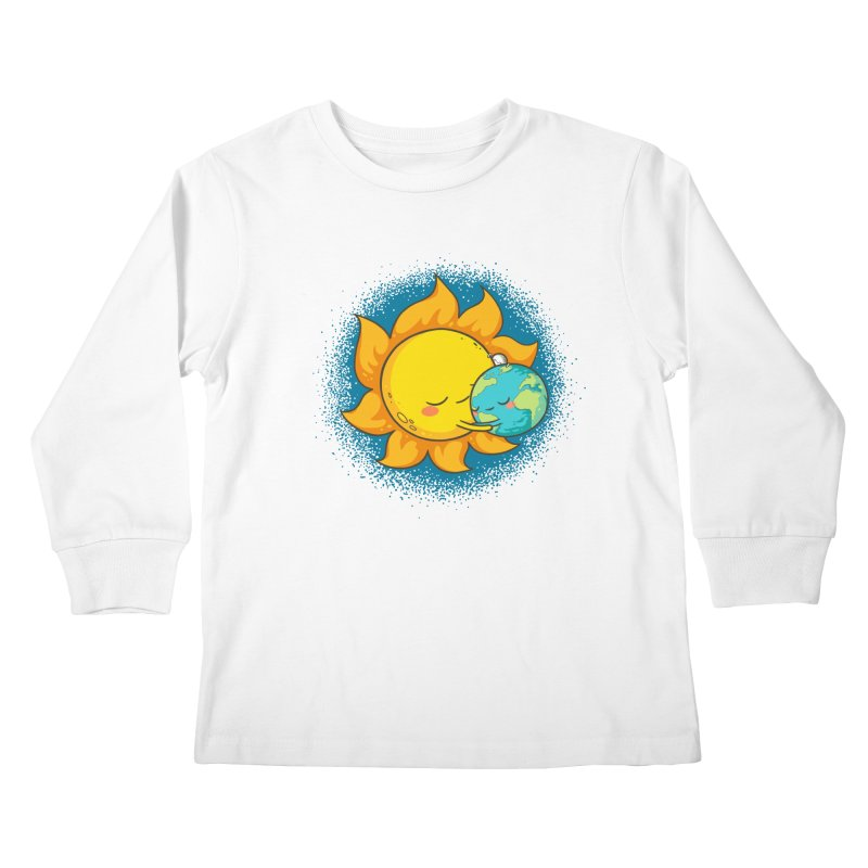 You Warm My Heart Kids Longsleeve T-Shirt by spookylili