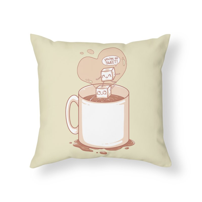 Sugar Home Throw Pillow by spookylili