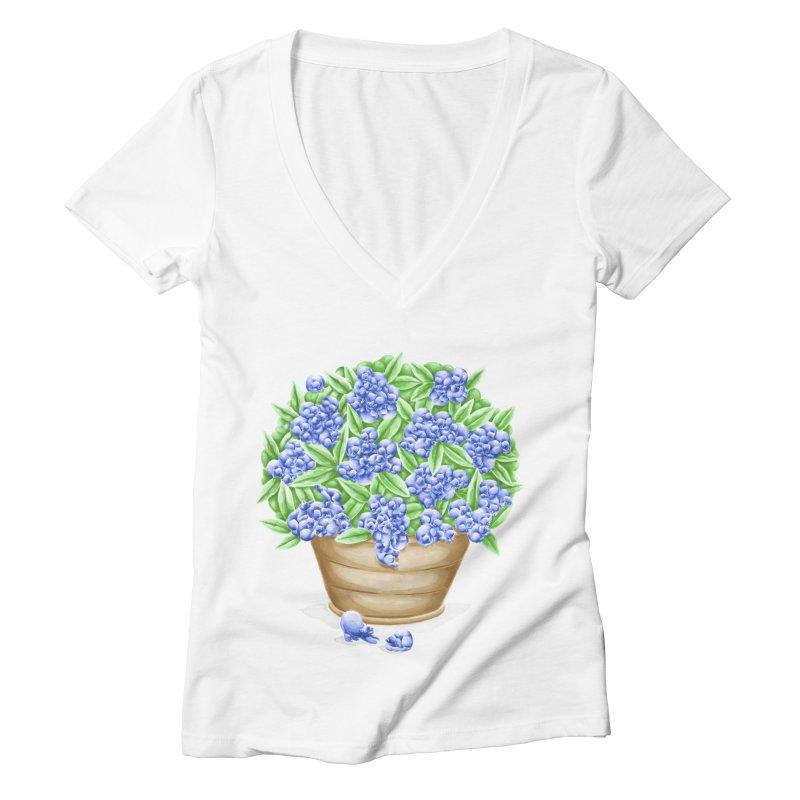 Bluebearies Women's V-Neck by spookylili