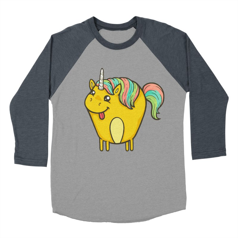 Unicorn Women's Baseball Triblend Longsleeve T-Shirt by spookylili