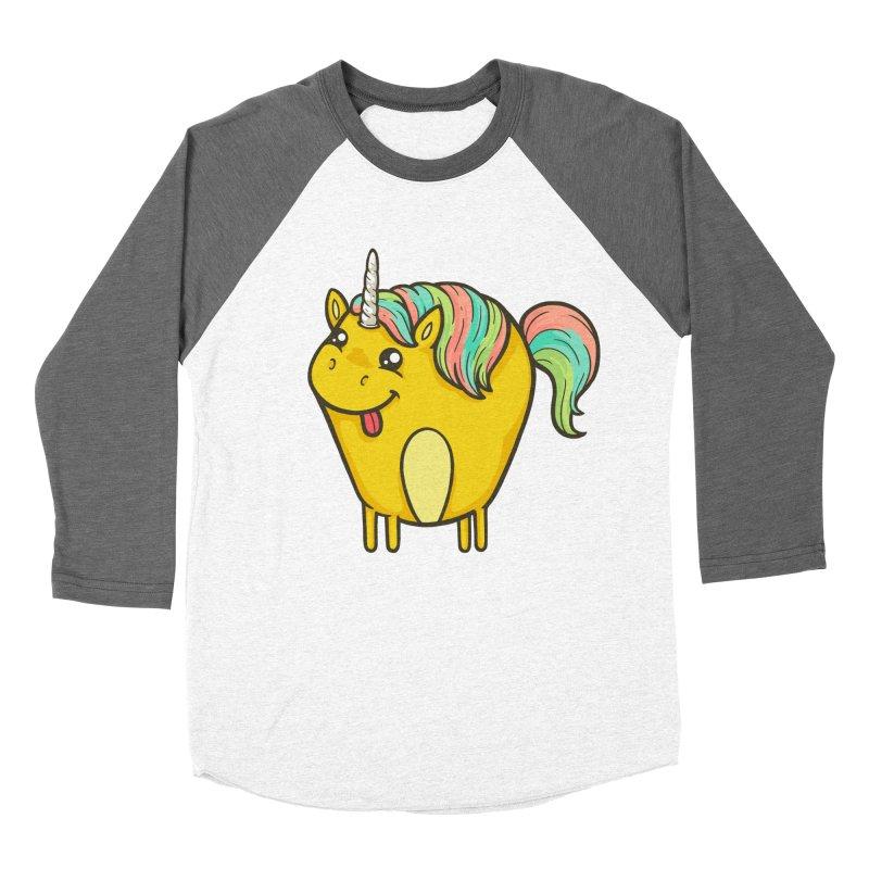 Unicorn Men's Baseball Triblend T-Shirt by spookylili