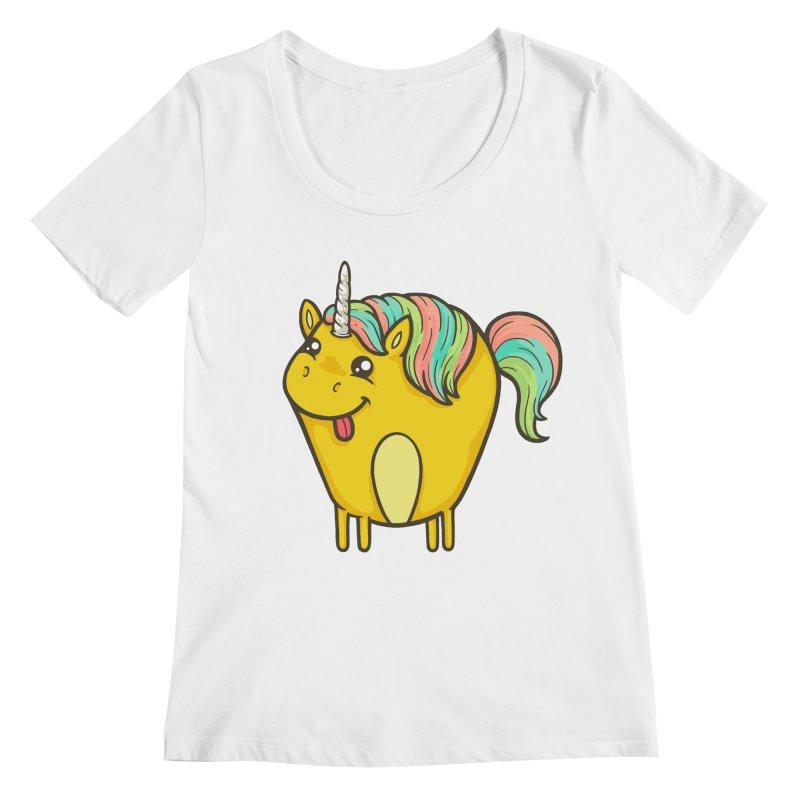 Unicorn Women's Regular Scoop Neck by spookylili