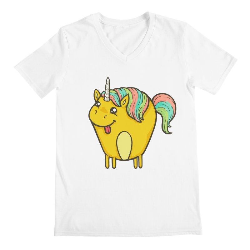 Unicorn Men's V-Neck by spookylili