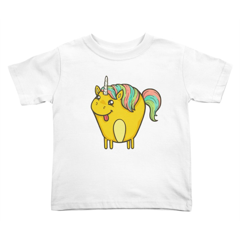 Unicorn Kids Toddler T-Shirt by spookylili