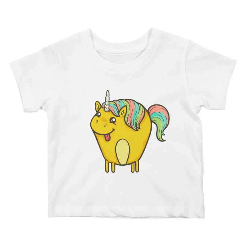 Unicorn Kids Baby T-Shirt by spookylili