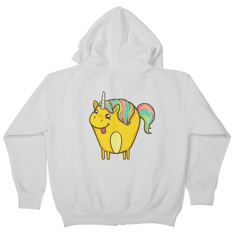 Unicorn Kids Zip-Up Hoody by spookylili