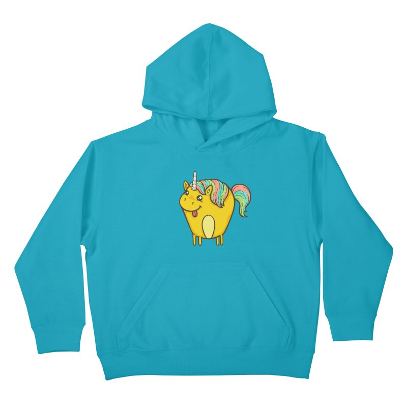 Unicorn Kids Pullover Hoody by spookylili