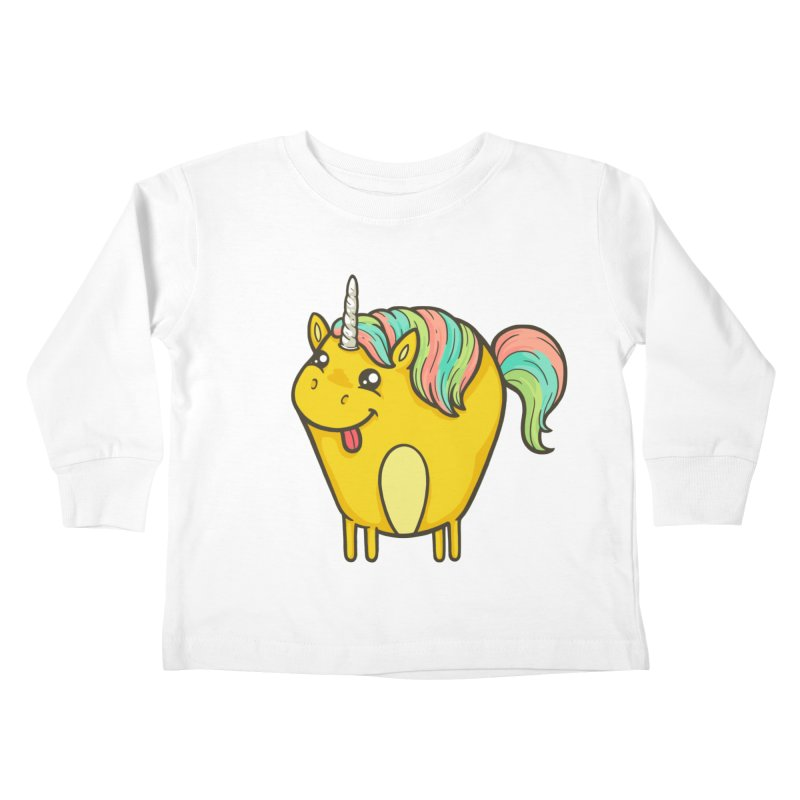Unicorn Kids Toddler Longsleeve T-Shirt by spookylili
