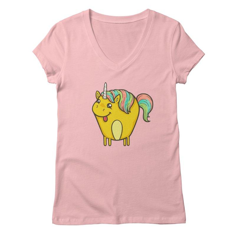Unicorn Women's V-Neck by spookylili