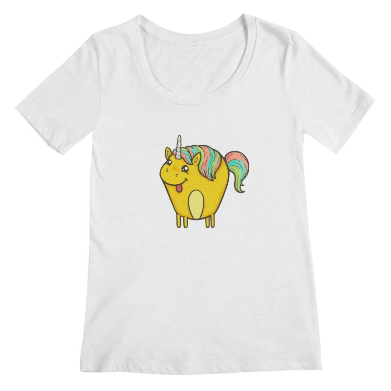Unicorn Women's Regular Scoop Neck by spookylili
