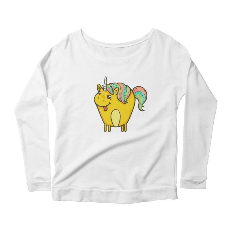 Unicorn Women's Scoop Neck Longsleeve T-Shirt by spookylili