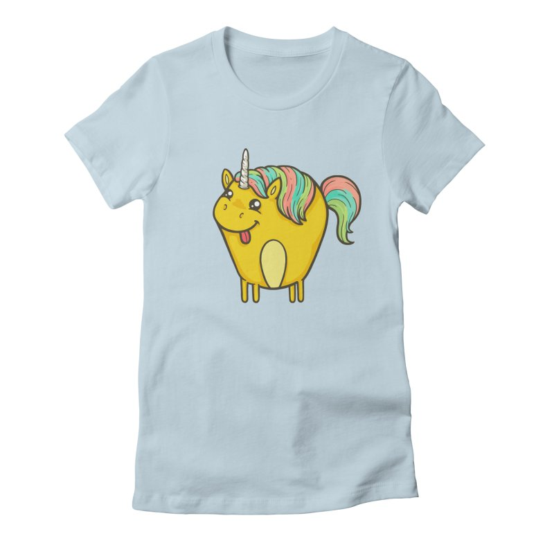 Unicorn Women's Fitted T-Shirt by spookylili