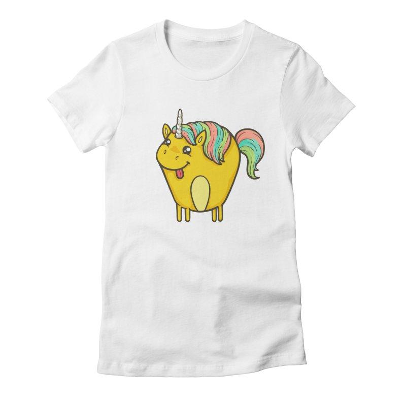 Unicorn Women's Fitted T-Shirt by spookylili