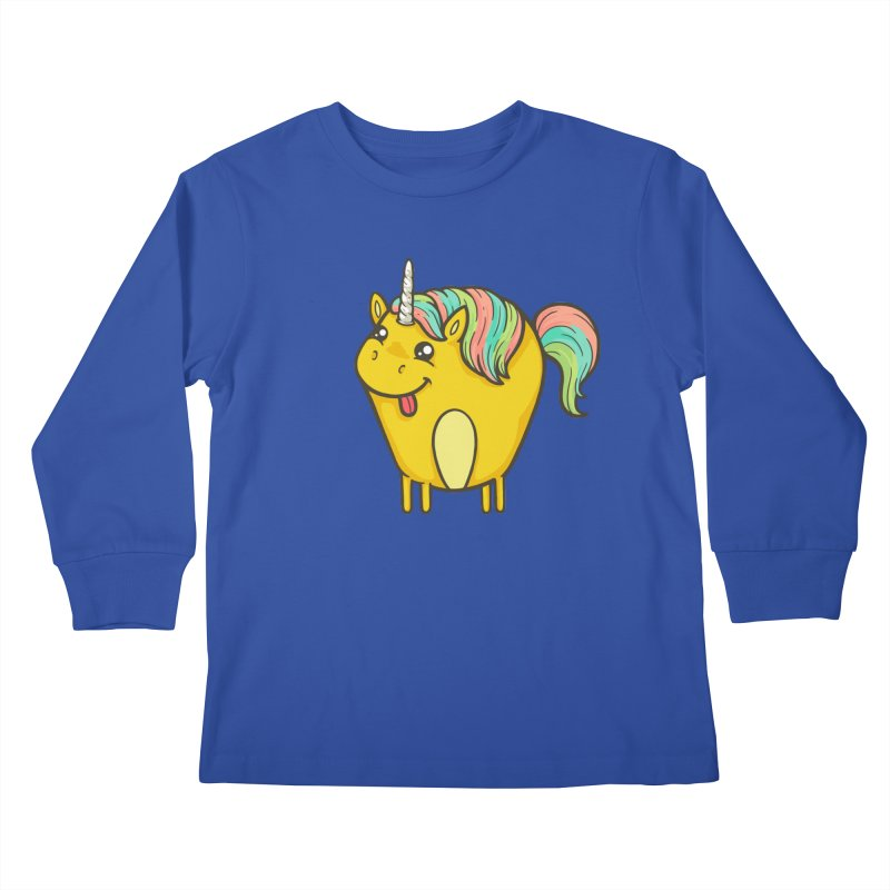 Unicorn Kids Longsleeve T-Shirt by spookylili