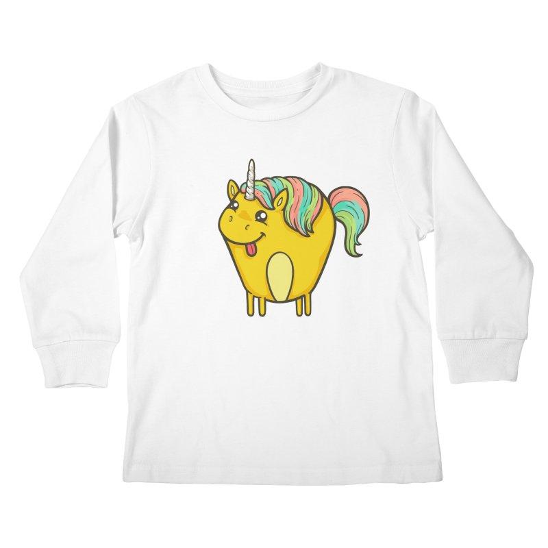 Unicorn Kids Longsleeve T-Shirt by spookylili