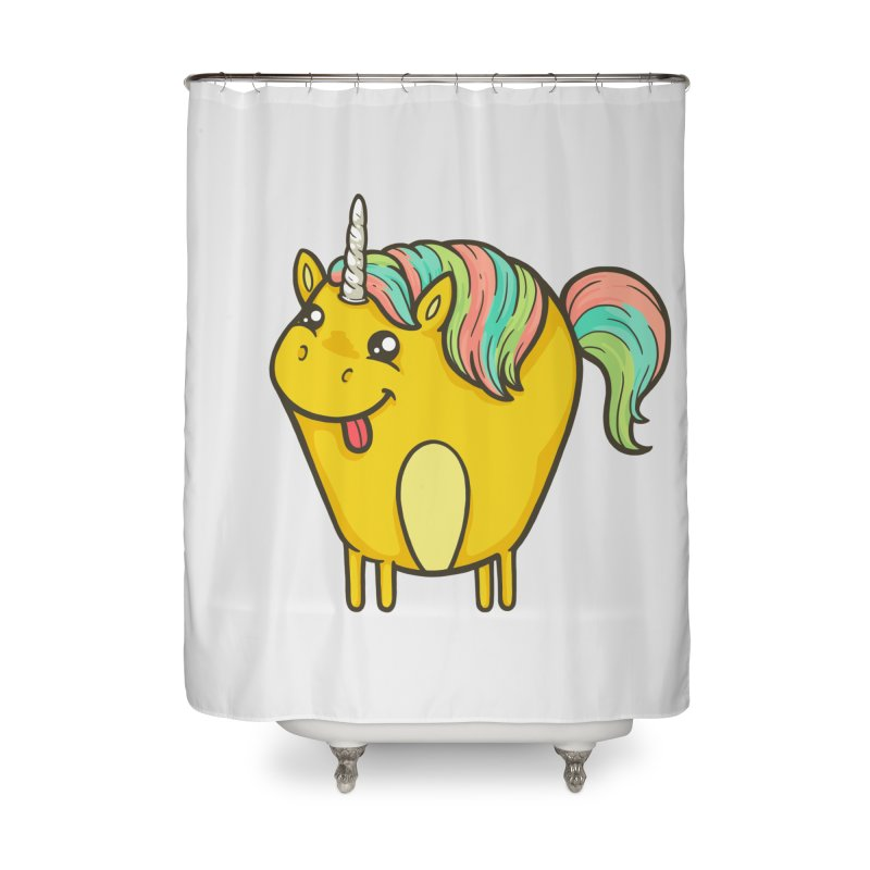 Unicorn Home Shower Curtain by spookylili