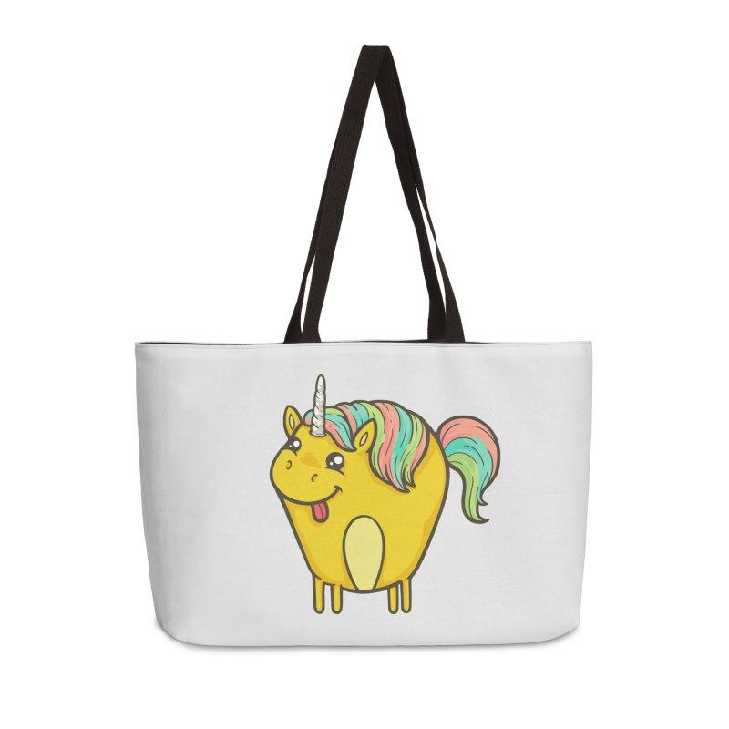 Unicorn Accessories Weekender Bag Bag by spookylili