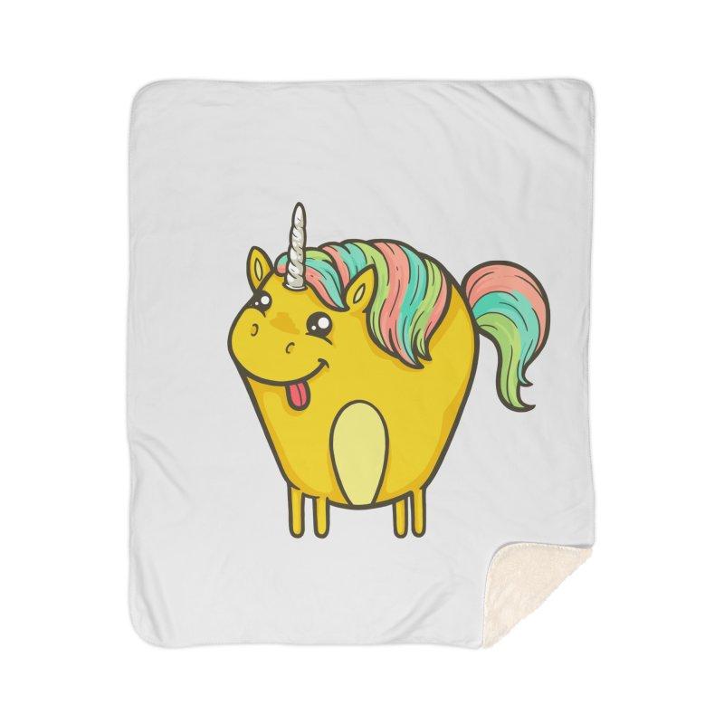 Unicorn Home Sherpa Blanket Blanket by spookylili
