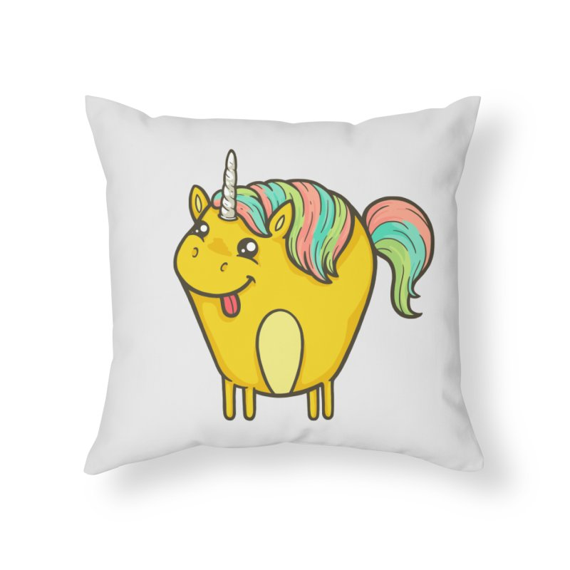 Unicorn Home Throw Pillow by spookylili