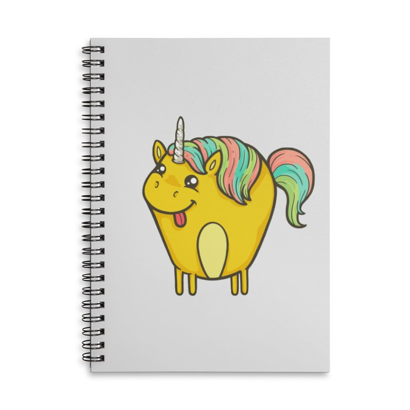 Unicorn Accessories Lined Spiral Notebook by spookylili